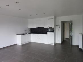 Nieuw appartement met 1 slaapkamer op de 2e verdieping. Dit appartement van 80m² bestaat uit inkomhal, leefruimte, open keuken, berging, slaapkam