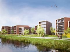 TE KOOP - De grote appartementen hebben een grote glaspartij en ruime terrassen tot 20 m² met zicht op de Nete en het achterliggend natuurgebied.