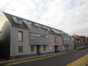 Nieuwbouw PENTHOUSE APPARTEMENT (105 m²) met fenomenaal ZUID GERICHT terras (47 m²), gelegen in het centrum van Broechem, bestaande uit: gem