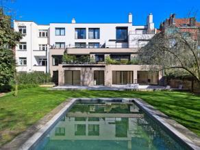 Dans un quartier recherché d'Uccle, au sein d'une très belle résidence entièrement rénovée, magnifique appar