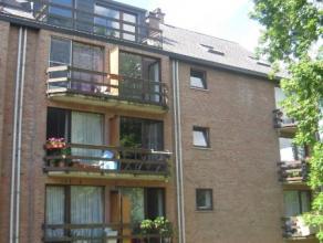 Comfortabele flat van ca 45m², bevattende : keuken, leefruimte met toegang tot balkon, 1 slaapkamer, badkamer met ligbad, aparte toilet. Met lift