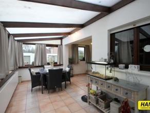 Mooie vrijstaande woning met 4 slaapkamers, tuin, terras, garage en welnessruimte op een perceel van 9.850m². Gelijkvloers: inkomhal van 9m²