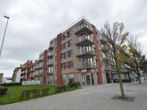 Appartement met 1 slaapkamer in een nieuwe residentie te Zeebrugge. Inkom, woonkamer, terras aan zonnekant, open keuken, 1 slaapkamer en een ingericht