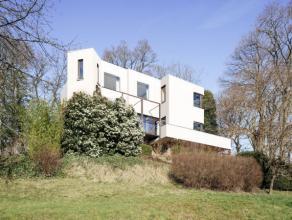Modernistische villa in Kessel-Lo opgetrokken in 1979 naar ontwerp van toparchitect Dan Craet (1926 - 2013), grondlegger van de modernistische archite
