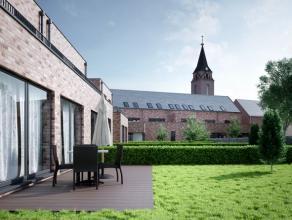 Residentie Capellenhof, tegenover de kerk van Haasrode, biedt ruimte voor 6 appartementen met 2 slaapkamers, 5 achterin gelegen hedendaagse woningen m