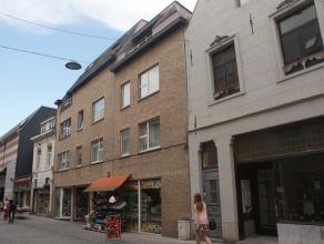 Mooi, ruim en zeer goed gelegen 2 slaapkamer appartement in het centrum van Leuven, vlakbij het station: living met open keuken, 2 slaapkamers, badkam