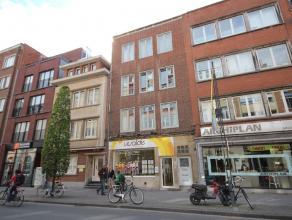 Zeer ruim appartement met 2 slaapkamers, ruime living, keuken, badkamer, berging, terras en kelder. Centrum Leuven, dicht bij het station.