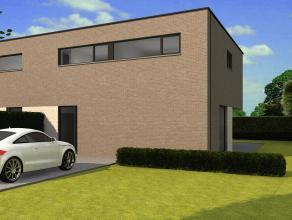 Moderne half open nieuwbouwwoning (ruwbouw / winddicht) met 3 slaapkamers op een perceel van 3are 72ca. Deze woning heeft een bewoonbare oppervlakte v