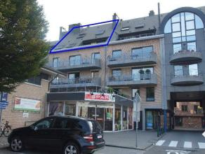 Ruim duplex-appartement op het 4de verdiep met lift omvat: leefruimte, eetplaats, ingerichte keuken, mooi en zonnig terras van 11m², apart toilet