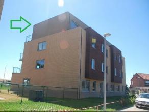 Nieuwbouwappartement met 2 slaapkamers op de 3e verdieping (gebouw met lift) en mooi terras. Onmiddellijk vrij. Indeling: inkomhal met toilet, ruime w
