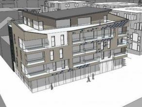Nieuwbouwappartement van 100 m² met volgende indeling : inkomhal, gastentoilet, leefruimte met open keuken, berging, 2 slaapkamers, badkamer en t