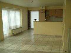 Mooi appartement met 1 Slaapkamer, Living, een volledige ingerichte Keuken (met Elektrisch vuur, Oven, Dampkap en Frigo), Badkamer (met Lavabo, Douche