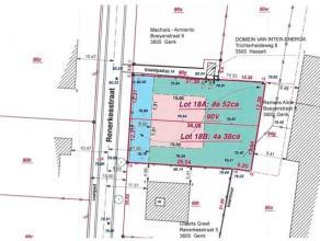 Perceel bouwgrond voor halfopen bebouwing met een oppervlakte van 4a 52ca. Ligging Het perceel is fijn gelegen aan de Renerkesstraat te Genk. Kenmerke