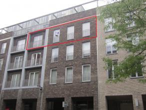 Appartement (97 m²) op de 3e verdieping met 2 slaapkamers en terras (10 m²) gelegen in Residentie Stadsplein Zuid in het centrum van Genk.