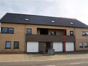 Ruim duplexappartement van ca. 150m² met 3 slaapkamers, een ruim terras en een garage, gelegen in Grote-Brogel op wandelafstand van een bakkerij,