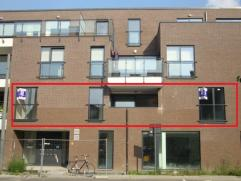 Mooi nieuwbouwappartement op de 1ste verdieping met 2 slaapkamers en terras van 9m². BTW-stelsel van toepassing! EPC : 125,9 kWh/m².