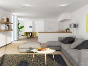 Buitenkans: Ruim gelijkvloers appartement van 102 m² + 2 terrassen, gelegen net buiten het centrum van Lommel. Indeling: inkomhal, zeer ruime woo