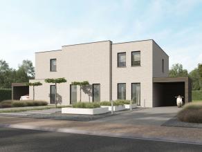 Nieuwbouwproject in moderne stijl bestaande uit 2 ruime moderne woningen op een zeer aangename locatie te OVERPELT (nieuwe verkaveling aan Ringlaan na