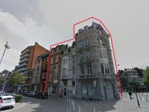LIEGE - OUTREMEUSE :  appartement comprenant  2 chambres, 1 séjour avec vue sur cuisine équipée, 1 salle de douche, 1 wc s&eacute