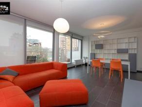LIEGE : Appartement de Standing entièrement meublé avec du mobilier contemporain. Surface habitable de 70 m2 + terrasse 12m2 avec garde