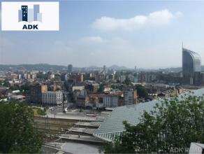 Très bel appartement 2 chambres situé au 8e étage avec une belle vue sur la ville et sur la gare des Guillemins. Il se compose d'