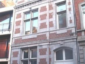 Rez-de-chaussée de 50m² avec petite cour, situé au calme à l'arrière d'une maison de Maître. Living de 4x5m. Cu