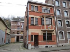 Spacieux immeuble divisé actuellement en 2 appartements, dont un duplex: REZ: appart comprenant: living, cuisine, 1 chambre à coucher, s