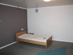 Kot met meubels (bed, bureau en kast) met wasbakSalon, zeer ingerichte keuken, berging, wc, terras worden gebruikt door de 4 koten.Verwarming, electri