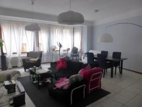 Spacieux appartement avec hall d'entrée, deux chambres , vaste living, cuisine équipée, salle de bains, wc, volets, ascenseur pri