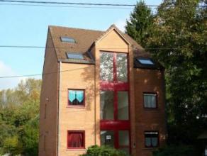 """rue de l'Auflette 130-4 Cuesmes (Mons).Cadre verdoyant. Rés""""Du Levant"""". penthouses-duplex (95m²) comp: Hall, cuis éq (12m²), l"""