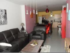 Appartement à louer au rez de chaussée : grand living avec cuisine équipée ouverte, salle de bain, wc séparé