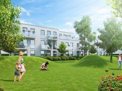 Prachtige penthouse (ca. 149m²) gelegen in een groen kader.  Deze penthouse omvat een ruime leefruimte met open keuken, 2 terrassen, berging, b
