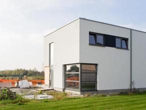 """Deze moderne nieuwbouwwoning is gelegen binnen de nieuwe verkaveling """"Nieuwe Velden"""". Dankzij de ligging in de nabijheid van openbaar vervoer en de R4"""