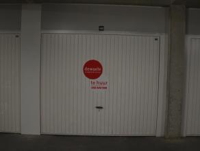 Ondergrondse garagebox (nr.11B) met plaats voor 1 wagen.  Lengte: 6,00 m Hoogte: 2,00 m Breedte poort: 2,40 m  - Huurprijs: € 102,00