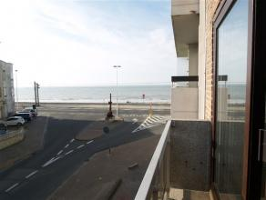 Gemeubeld appartement gelegen te Raversijde met open zicht op de zee en gelegen aan de volle zonnezijde.  Kleinschalig gebouw zonder lift dus weinig a