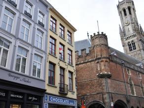 Duplexappartement met twee slaapkamers, gelegen op de hoek van de Wollestraat en Oude Burg.    INDELING: 1°V: Inkom - apart toilet - leefruimte