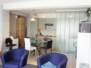 Dit ruime appartement met 1 slaapkamer is geïnstalleerd met meubels, salon, eetplaats, slaapkamer, en voorzien van alle toestellen.  Indeling v