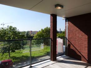 Appartement met twee slaapkamers gelegen in een groene omgeving en op fietsafstand van het centrum van Gent.  Perfecte bereikbaarheid door de dichte