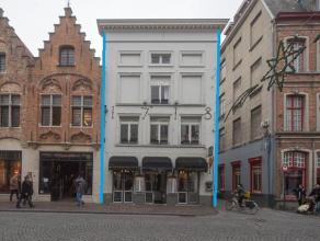 Horeca-exploitatie op topligging in het centrum van Brugge, nabij het Zand en in de beste commerciële straat (Zuidzandstraat-Steenstraat).  Indel