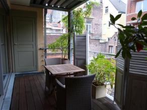 Dit ruim en aangenaam appartement bevindt zich in het hartje van Gent. Hier heb je een prachtig terras van 10 m² die voldoende privacy kan bieden
