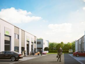 Nieuwbouw KMO-unit (300m²) op industriezone te Aalter. Centraal gelegen op slechts enkele km van de E40.<br /> <br /> AFWERKING:<br /> Gepolierde