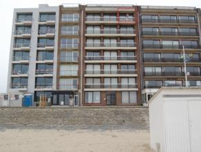 Appartement op eersterangsligging te Zeebrugge met vanop terras op 6de verdiep wijdse zicht op zee. Appartement ( Â 80 m²) in perfect onder