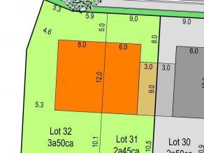 Danneels verkoopt 6 projectgronden dienstig voor de bouw van meerdere eengezinswoningen voor halfopen en gesloten bebouwingen gelegen in een recent go