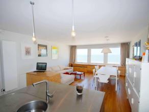 Appartement op 5e verdieping met ruime woonkamer op de Zeedijk, ingerichte keuken met vaatwas, microgolfoven, oven, ceramische kookplaat, koelkast, di