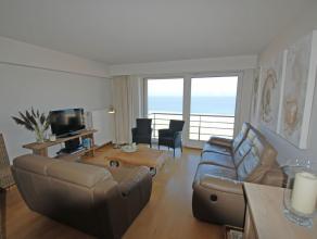 Recent appartement op een 5e verdieping op de Zeedijk Albertstrand vlakbij het casino, met : woonkamer met terras op de zeedijk en prachtig frontaal z