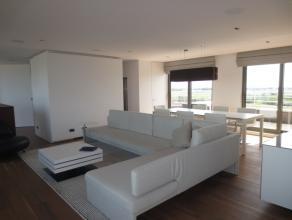 Oostende, Exclusieve penthouse met fantastisch frontaal zeezicht, 7° verd, ruime living met terrassen voor- en achteraan, prachtig open zich op he
