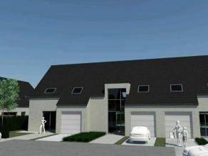 Nieuwbouwwoning (halfopen) op 419 m² te Gistel. Met ruime living, open keuken en 3 grote slaapkamers. Ruime zolder. E-peil max 60. Lot 13.Afgewer