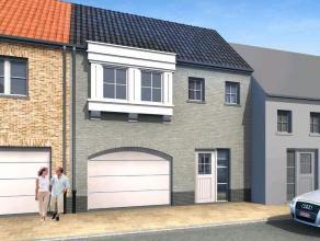 Nieuw te bouwen woning in landelijke stijl in het rustige Zevekote op 375 m² grond. Ingericht op gelijkvloers met garage, berging, living met ope