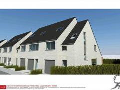 Nieuwbouwwoning te Oostende (Prins Roselaan) op 143 m². Met open keuken, 3 slaapkamers, garage en tuin. E-peil= 60. Opstart eind 2015.lot 235 (Re