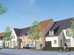 Zeer ruime halfopen en gesloten woningen te koop in Emelgem. Gelijkvloers: inkomhal met toilet, ruime woonkamer met zithoek en eethoek, gedeeltelijk a